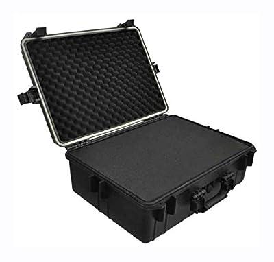 PROGLEAM Tool Box, Transport Hard-Case Black w/Foam 9.2 gal Capacity