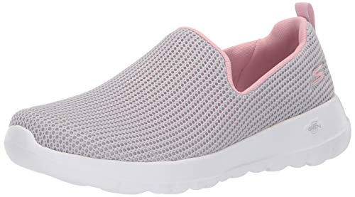 Skechers Women's GO Walk JOY-15637 Sneaker Light Gray/Pink 11 M US