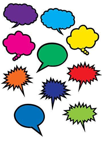- Teacher Created Resources Colorful Speech/Thought Bubbles Accents