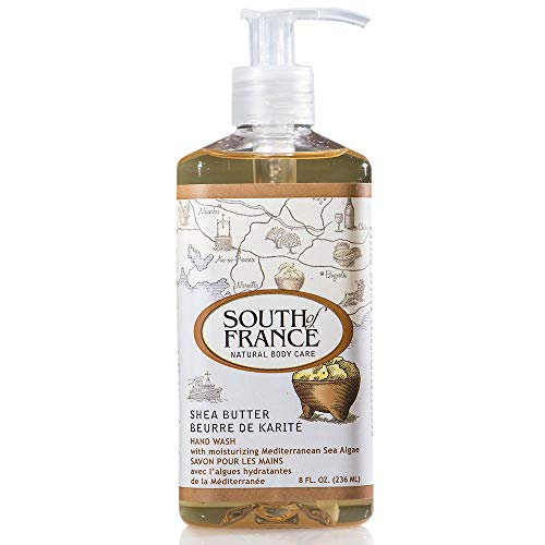 Shea Butter - South of France Natural Body Care 8oz Hand Wash (3 Bottles)