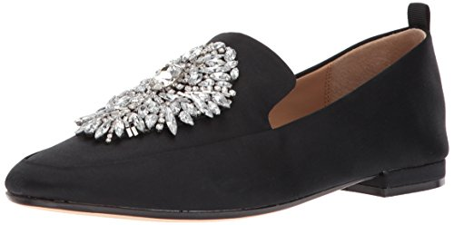 Badgley Mischka Women's Salma Loafer, Black, 7.5 M US