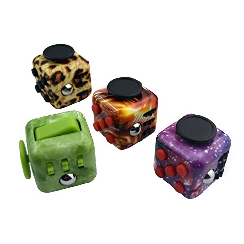 Oliasports NightStars Fidget Cube Toy Camo Anxiety Attention Stress Relief for Children & Adults -