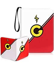 Geecow 4-Pocket Binder Compatible with Pokemon Cards, Portable Storage Case with Removable Sheets Holds Up to 400 Cards-Toys Gifts for 3-8 Year Old Boys Girls