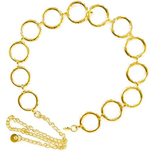 Circle Gold Chain Link Belt For Women Fashionable Classic Design ()