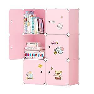 Ettbja armario modular rosa para almacenaje de ropa - Armario para juguetes ...