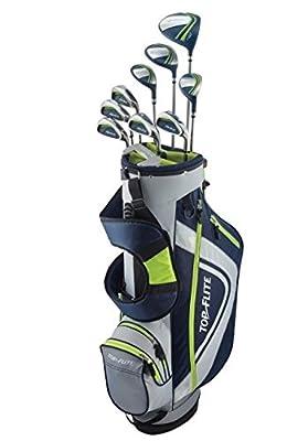 Top Flite XL 13-Piece Complete Golf Set Mens Regular Flex - Volt - New 2018