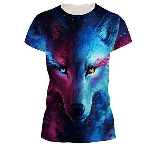 Corta shirt Da Donna Atesta 3d Uomo Oyabeautye Stampato Unisex Manica nbsp; T E Maglietta Di Lupo Tees Casual tXvxCAqCw