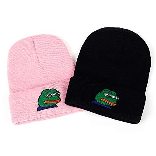 1712661f5e3 World 2 home VORON Sad Kermit Cap Frog Pepe Feels Bad Man Embroidery  Beanies Hip Hop Winter Keep Warm hat The Sad Meme Frog Hat Skullies   Amazon.in  ...