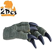 Zokomart Children's Day Gift Dinosaur Claws Toys 2PCS Roft Rubber Realistic Velociraptor Claws for Adult K