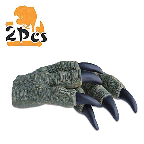 Zokomart Dinosaur Claws Toys 2PCS Roft Rubber Realistic Velociraptor Claws for Adult Kids Cosplay