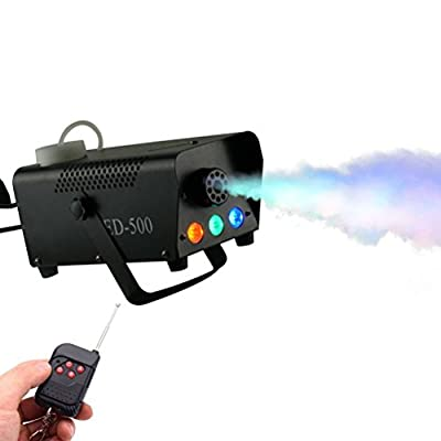 Fog Machine, Softeen 500W Led Fog Machine with Lights (Red, Blue, Green) Wireless Remote Control, Huge Fog 2000 CFM, Smoke Fog Machine for Holidays Parties Weddings Christmas Halloween Stage Effect by Softeen