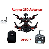 Walkera Runner 250 Advance GPS System Racer RC Drone Quadcopter RTF with DEVO 7 Transmitter OSD 800TVL Camera GPS Goggle 2 Glasses