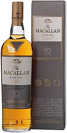 MACALLAN 10 Year Old Fine Oak Speyside Malt Whisky, 700 ml
