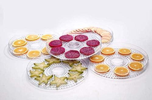 Voedseldrogers, temperatuurregeling 5-laags food grade dienblad kan worden getimed Pet Food Dehydrator Groente en fruit Vleesdroger, gedroogd fruit Mac