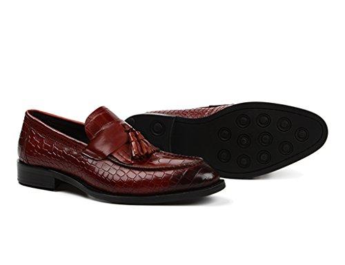 HWF Scarpe Uomo in Pelle Scarpe da uomo in pelle Business Leisure Scarpe da cerimonia nuziale con punta a punta stile nappato inglese (Colore : Marrone, dimensioni : EU44/UK8.5) Marrone