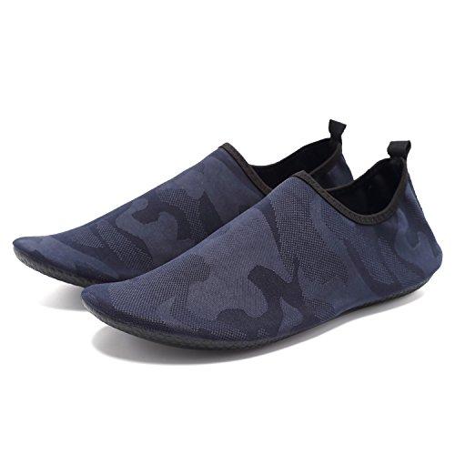 Cior Léger Aqua Chaussettes Chaussures De Leau À Séchage Rapide Mutifunctional Pieds Nus Pour La Plage Piscine Surf Exercice De Yoga W.blue