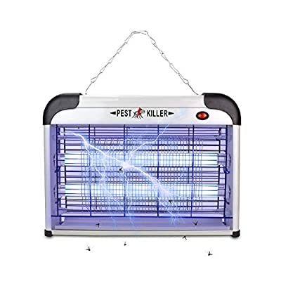 Micnaron Electric Bug Zapper with Handle, Pest Repeller Control-Strongest Indoor 2800 V 20W 6000ft² UV Lamp Flying Fly Insect Killer Mosquitoes