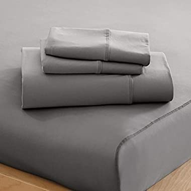 SHEEX Performance Bedding Home Collection Sheet Set, Queen, Pewter