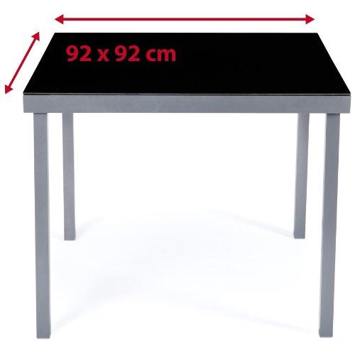 Ultranatura Aluminium Gartentisch, Korfu Serie, grau