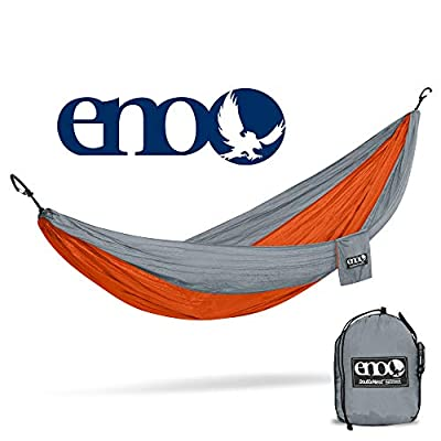 ENO - Eagles Nest Outfitters DoubleNest Hammock with Insect Shield Treatment, Orange/Grey: Sports & Outdoors