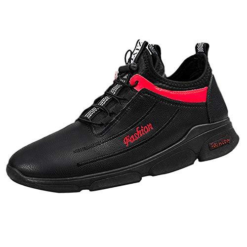 Mesh Sans Confort Football Chaussures Homme Running Américain Respirant Baskets Jogging Rouge Voyage Mocassin Basses Lacets Sport Casuel Bqg5x78w
