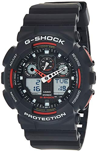 Casio-G-Shock-Ana-digi-World-Time-Black-Dial-Mens-watch-GA100-1A4
