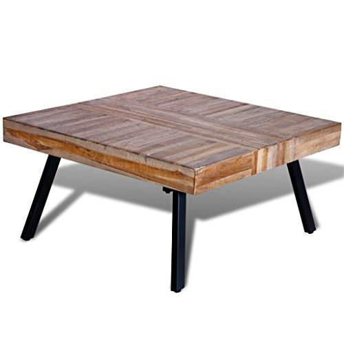 Coffee Table Square Reclaimed Teak (Square Reclaimed Wood Coffee Table)