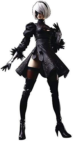 Square Enix NieR Automata: 2B Yorha No. 2 Type B Play Arts Kai Action Figure, Multicolor