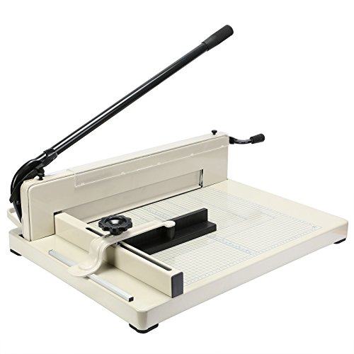 SMTHouse A3 Paper Cutter Paper Trimmer Paper Cutter Guillotine 17 Inch Capacity 80g 400 Sheets for Commercial Photocopy Printing Shop (A3 17 - Cutter Commercial Stack Paper