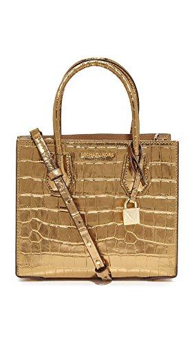 MICHAEL Michael Kors Women's Medium Mercer Messenger Bag, Pale Gold, One Size by MICHAEL Michael Kors