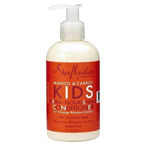 SHEA MOISTURE - Mango & Carrot - Hair Conditioner for Children - Extra nourishing - Smoothes and softens curly hair - Delicate - Strengthens the hair - Natural ingredients - 236ml
