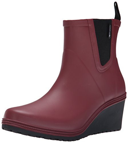 Women's Mid Cut Rain Boots (Red) - 1