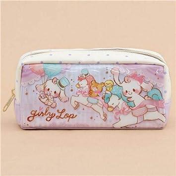 Estuche bolso neceser lila blanco caballo conejo oso lunares brillo de Japón: Amazon.es: Juguetes y juegos