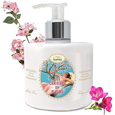 Handcreme Kirschblüte – Großformat Pumpe 300 ml Un Air d'Antan®/ Handlotion mit Arganöl angereichert/Handbalsam In…