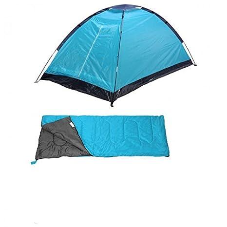 Camping Juego de 4 in1 para 2 personas camping tienda Festival + Saco de dormir + Isomatte Azul Rojo camping set nuevo Azul azul: Amazon.es: Deportes y aire ...