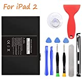 HDCKU Battery Replacement Kit for Apple iPad 2 2nd Generation A1395,A1396,A1397 with Full Repair Tools Set(1 Year Warranty)