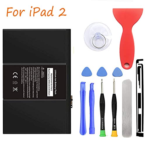 HDCKU Battery Replacement Kit for Apple iPad 2 2nd Generation A1395,A1396,A1397 with Full Repair Tools Set(1 Year Warranty) (Kindle 2nd Battery Generation)