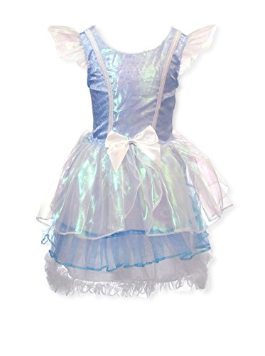 [My Princess Academy Girls Elegant Costume Fairy Tale Dress Blue and White Large] (Make Poodle Skirt Costumes)