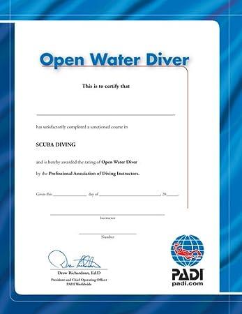 PADI Certificate - Certificate Holder - An Open Water Diver Diver ...