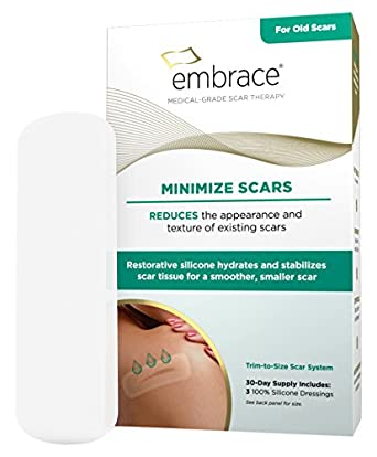 embrace scar therapy. embrace minimize silicone scar sheets for old treatment, cut-to-size ( therapy n