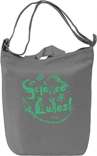 Science Rules Borsa Giornaliera Canvas Canvas Day Bag| 100% Premium Cotton Canvas| DTG Printing|
