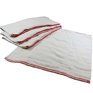OsoCozy Better Fit Unbleached Prefolds - Baby Cloth Diaper Prefolds Made Of 100% Indian Cotton - Diaper Service Quality (DSQ) {Premium 4x8x4 Fits 14-30 lb.} - Dozen
