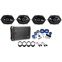2005-2007 Ford F-250/350/450/550 Kicker 6x8 Speaker Replacement Kit+4-Ch Amp