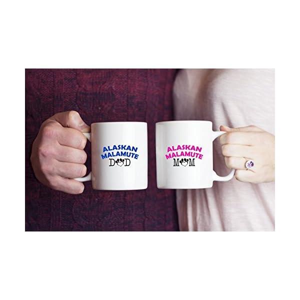 Funny Alaskan Malamute Couple Mug - Alaskan Malamute Dad - Alaskan Malamute Mom - Alaskan Malamute Lover Gifts - Unique Ceramic Gifts Idea (Dad & Mom) 1