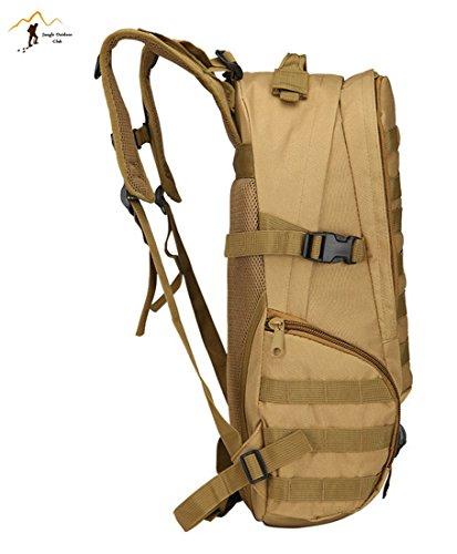 Jungle Oxford New professionale zaino 40l 3D Outdoor viaggio zaino molle Big Bag borse camouflage Tactical tasche Wild borsa zaino da escursionismo arrampicata zaino, CP camouflage