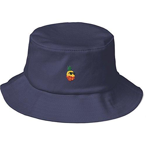 Pina Colada Bucket (The Jazzy Panda Women's Pineapple Bucket Hat | Tropical Hawaiian Cap)