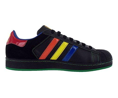 Adidas Superstar 2 Cb Heren Sneakers Maat Ons 9.5, Normale Breedte, Kleur Zwart / Multicolour