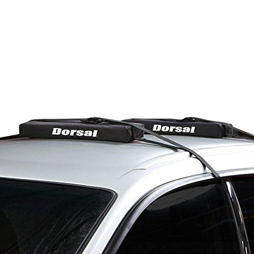 Dorsal Wrap-Rax Surfboard Longboard Soft Roof Rack Pads Straps, 19 - Racks Surf Roof