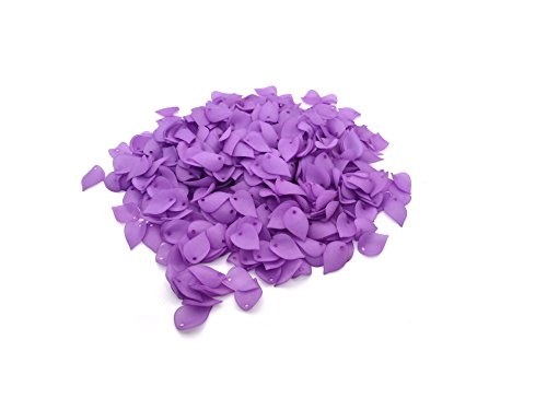 (500 Pcs Acrylic Petals Plastic Leaf with Hole for Jewelry Making DIY Craft Hair Accessories Wedding Decoration (Purple))