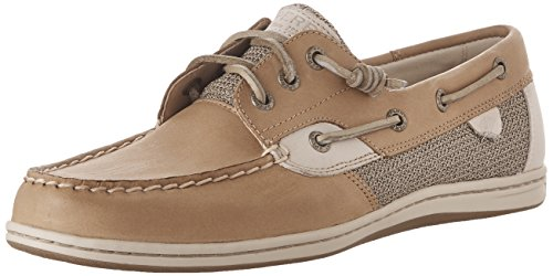 Sperry Top-Sider Women's Songfish Boat Shoe, Linen/Oat, 9 M US